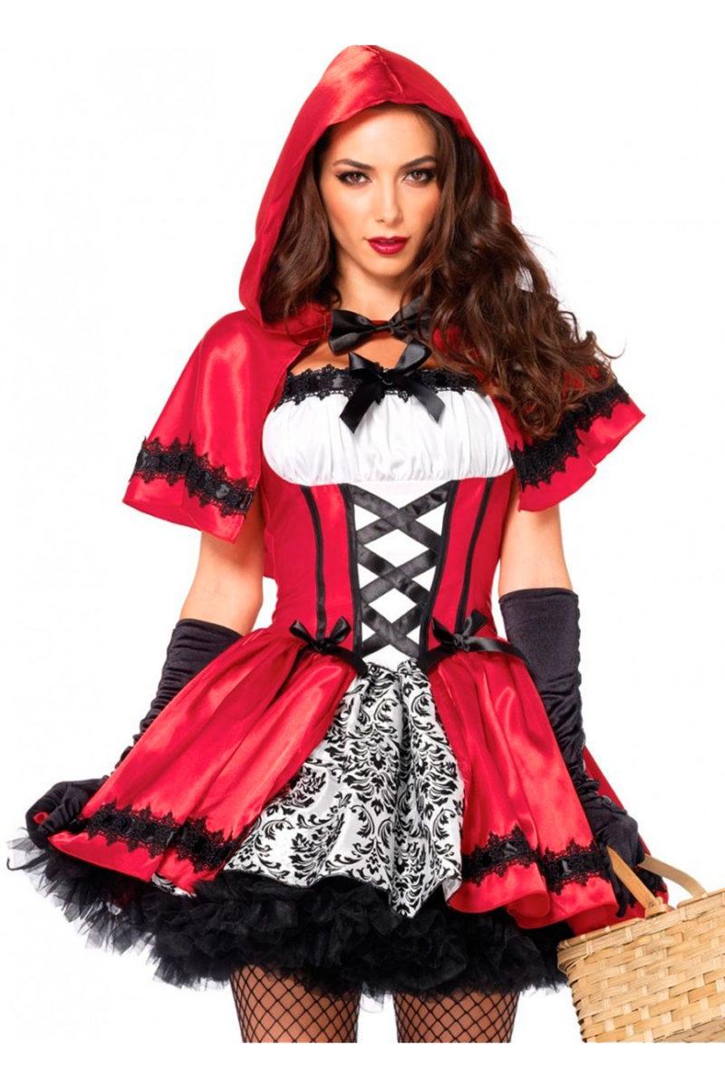 2pzs. Caperucita roja gotica, incluye vestido y caperuza.