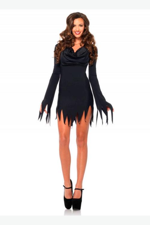 1 pieza. Vestido andrajoso con cuello en V. Ideal para combinar con varios estilos tu crear tu propio disfraz