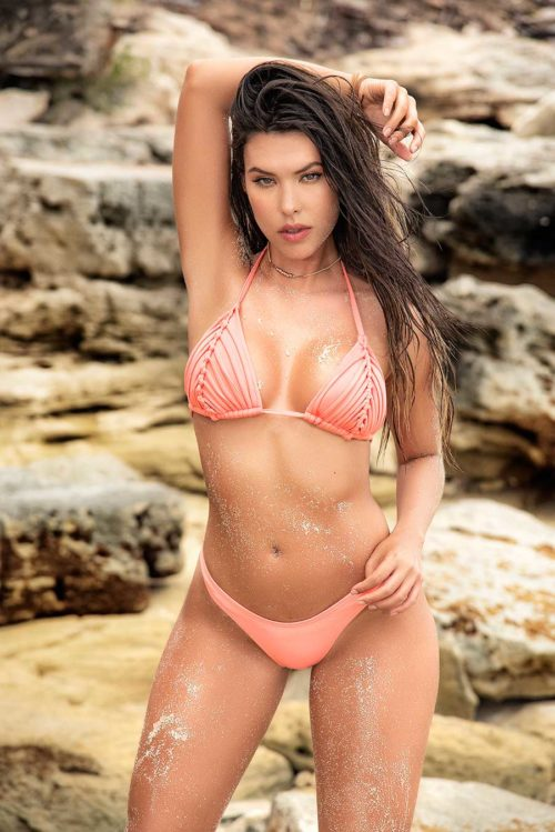 Bikini con detalle de ganchillo