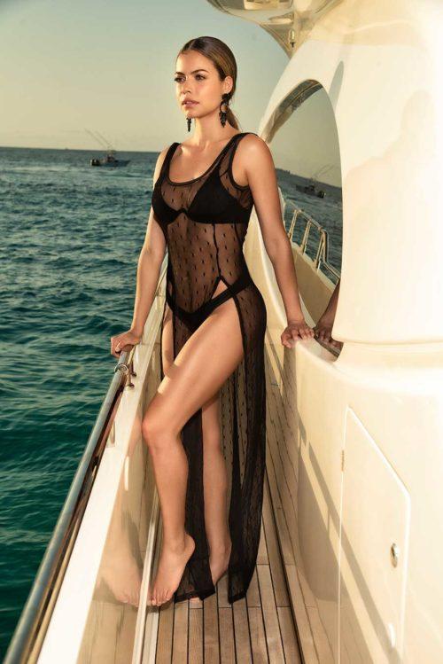 vestido de playa transparente
